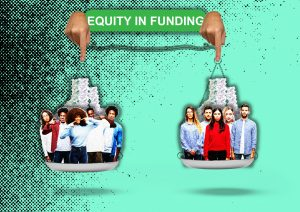 equity in funding, scale